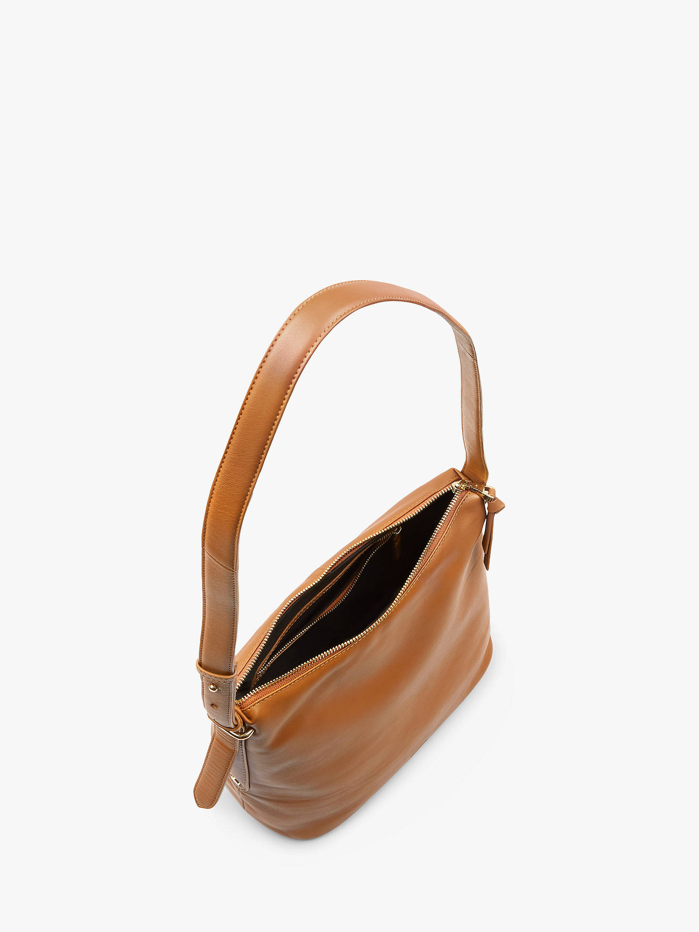 b00f84767803 ... Buy Jaeger Maisie Small Hobo Leather Shoulder Bag, Tan, One Size Online  at johnlewis ...