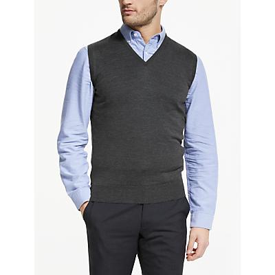 John Smedley Hadfield Sleeveless V Neck Pullover, Grey
