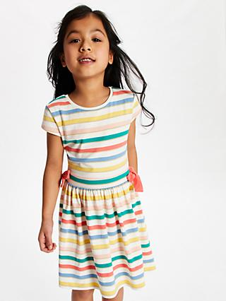John Lewis & Partners Girls' Stripe Dress, Multi
