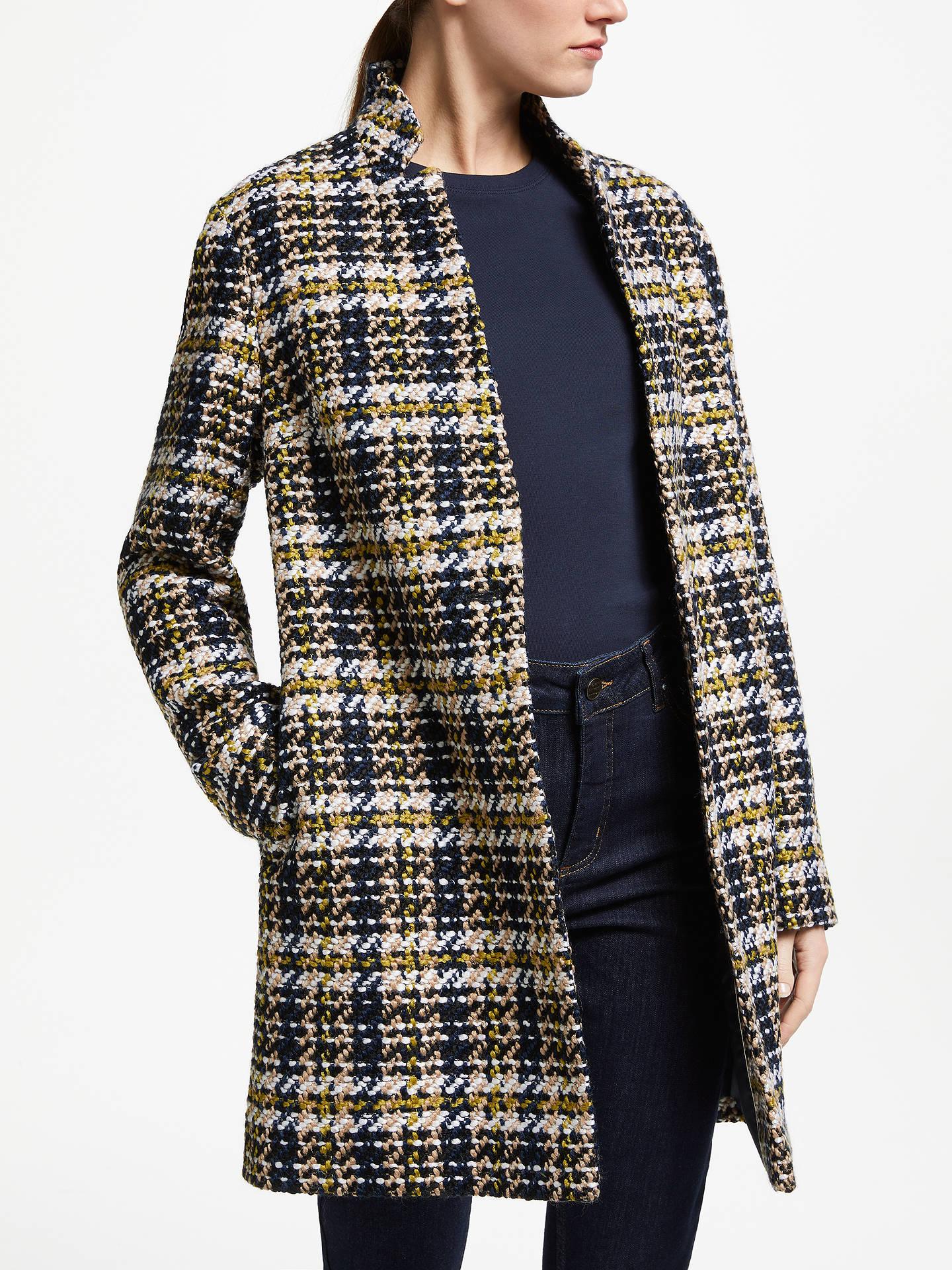 898a71c0f8 Buy John Lewis   Partners Notch Collar Check Textured Coat