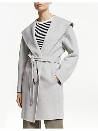f1db0cdbb5 John Lewis & Partners Shawl Collar Wrap Jacket, Pebble Grey