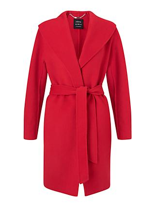 John Lewis & Partners Shawl Collar Wrap Jacket, Dacquiri Red