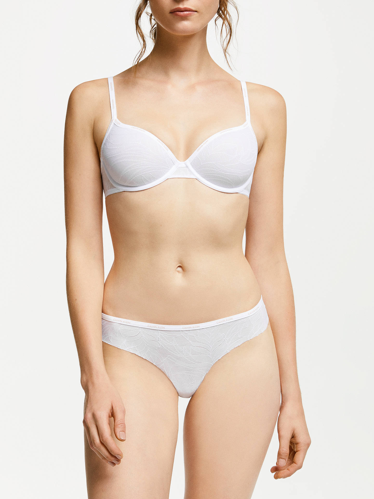 553541242988 ... Buy Calvin Klein Sheer Marquisette Thong, White, M Online at  johnlewis.com ...