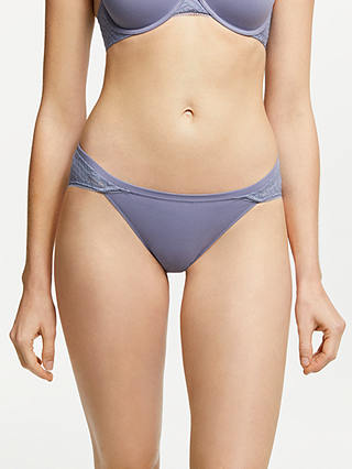 Buy Calvin Klein Perfectly Fit Geo Lace Bikini Briefs, Blue Granite, S Online at johnlewis.com