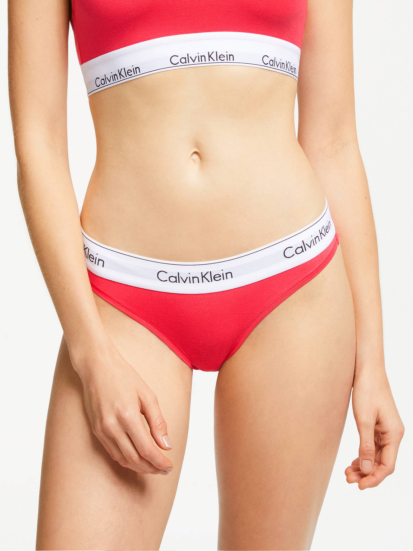 new concept 8be09 760fc Calvin Klein Modern Cotton Bikini Briefs, Fire Lily