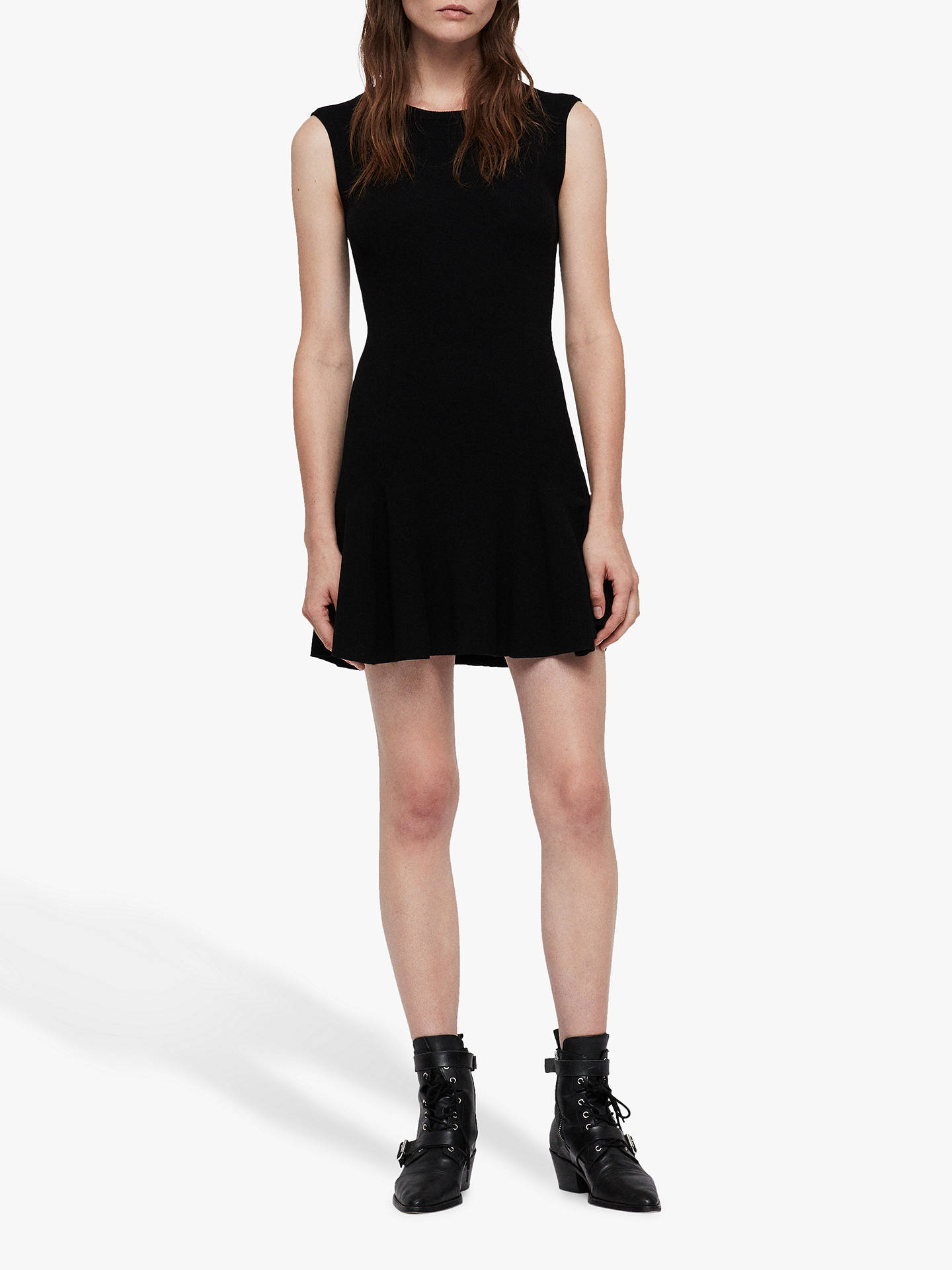 Buy AllSaints Cindy Dress, Black, S Online at johnlewis.com