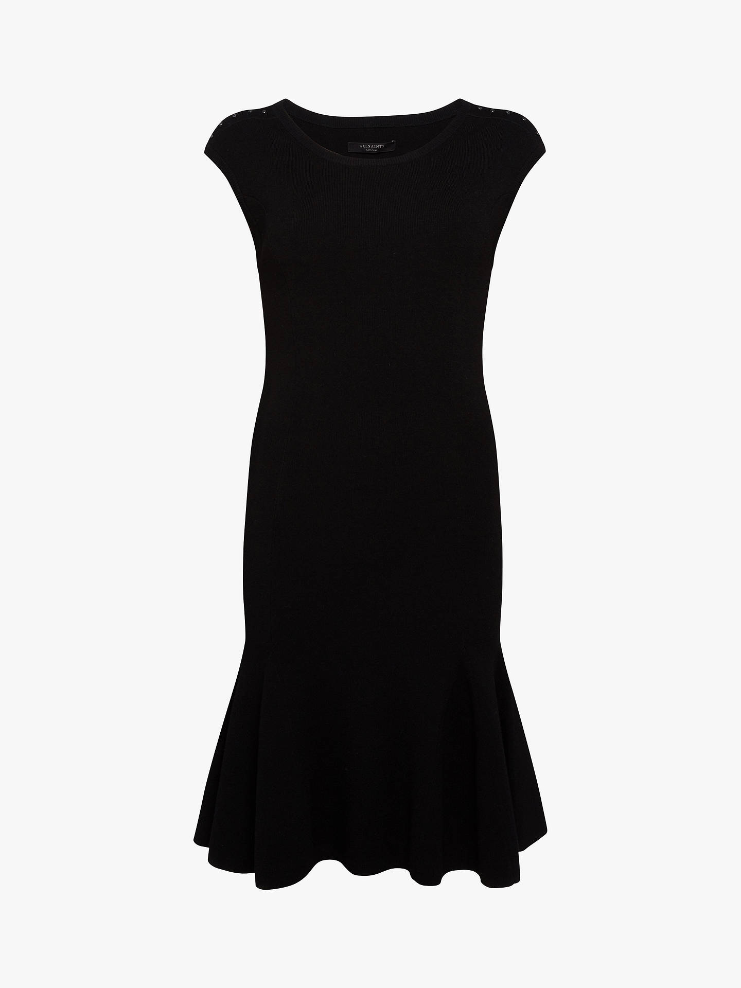 BuyAllSaints Cindy Dress, Black, L Online at johnlewis.com