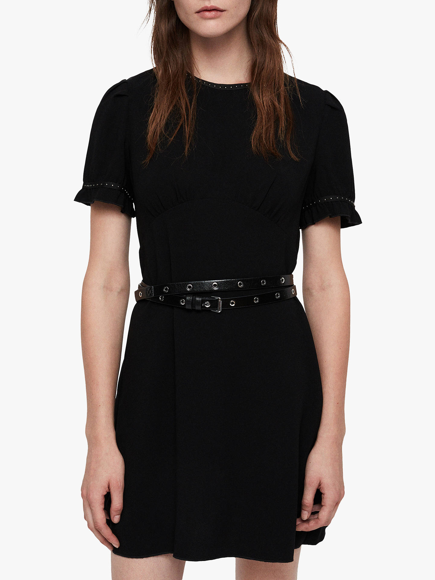 BuyAllSaints Zadie Dress, Black, 10 Online at johnlewis.com