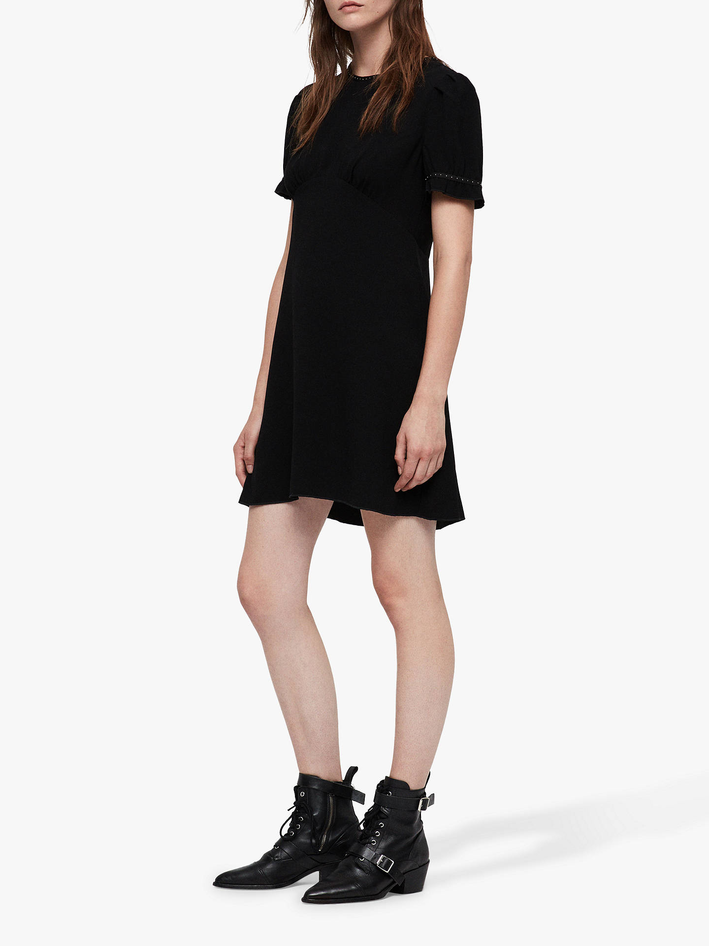 Buy AllSaints Zadie Dress, Black, 10 Online at johnlewis.com