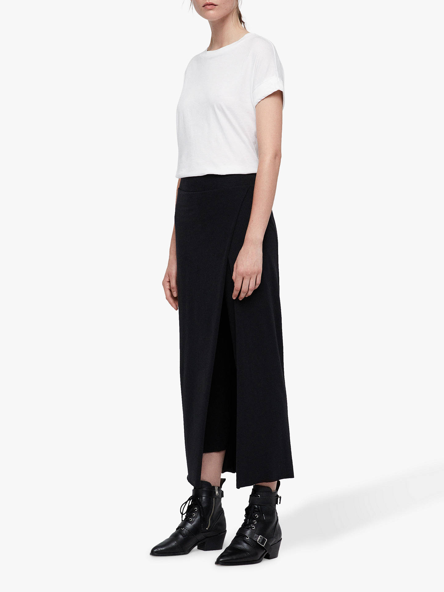 Buy AllSaints Raffi Maxi Leggings, Black, L Online at johnlewis.com