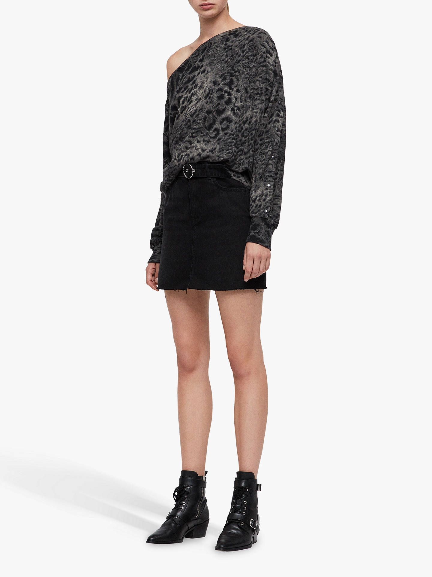 BuyAllSaints Paw Kaarlo Sweatshirt, Black, L Online at johnlewis.com