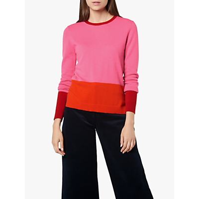 L.K.Bennett Carina Knitted Top, Pink Multi