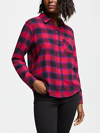 c2b4983c1ccfd Rails Milo Plaid Shirt, Black Cherry Violet