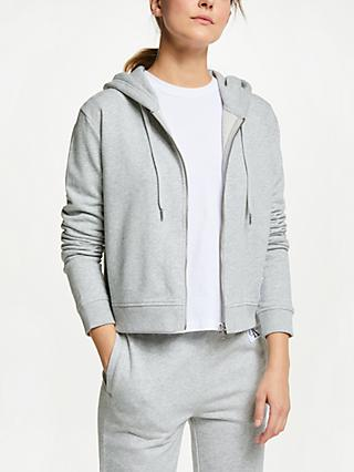 Calvin Klein Jeans Boxy Zip Up Hoodie, Light Grey Heather