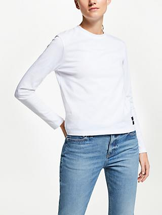Calvin Klein Jeans Long Sleeve Logo T-Shirt, Bright White