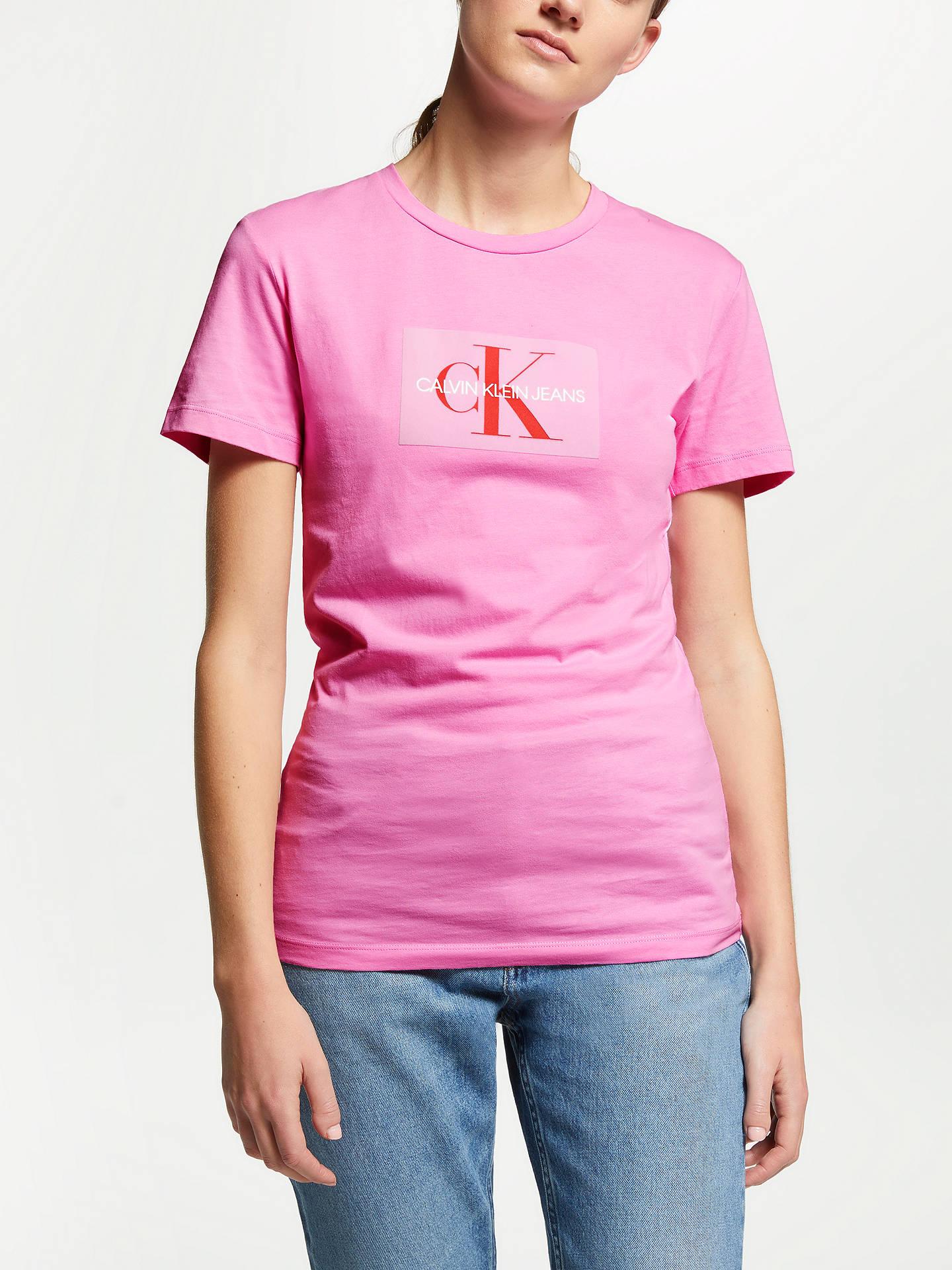 Calvin Klein Jeans Girls T Shirt Pink