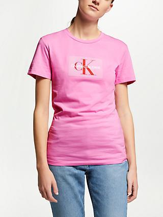 8fef72e1877 Calvin Klein Jeans Flock Monogram Logo T-Shirt