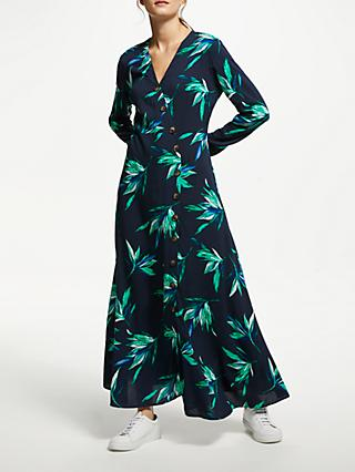 Y.A.S Glua Long Shirt Dress, Flowery Night Sky