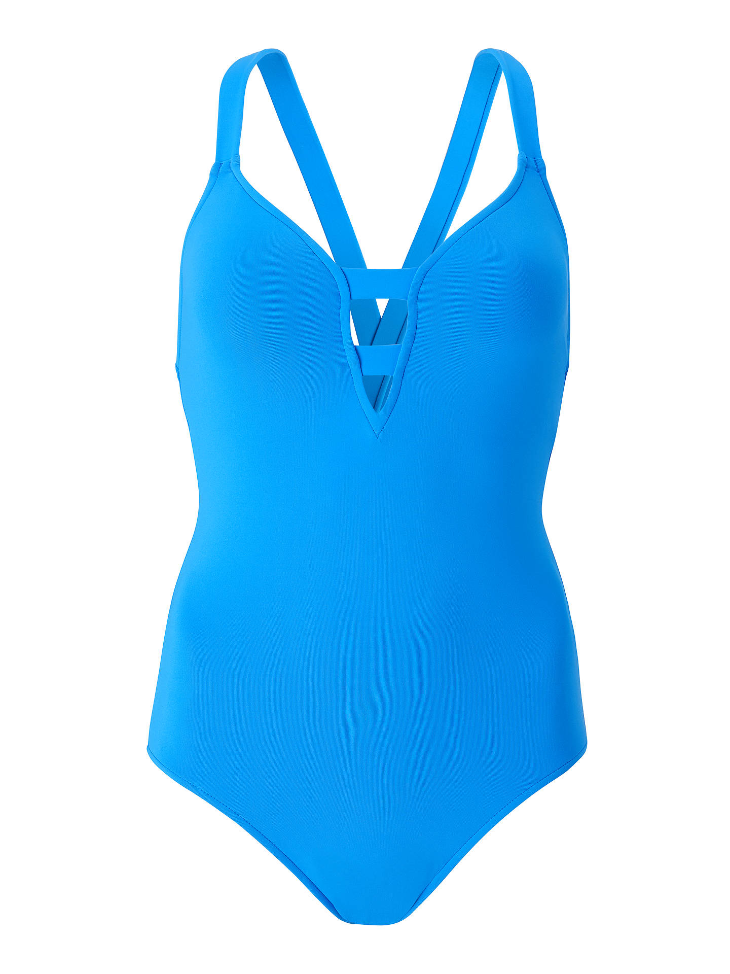 Buy Seafolly Active Swim Deep-V Swimsuit, Electric Blue, 10 Online at johnlewis.com