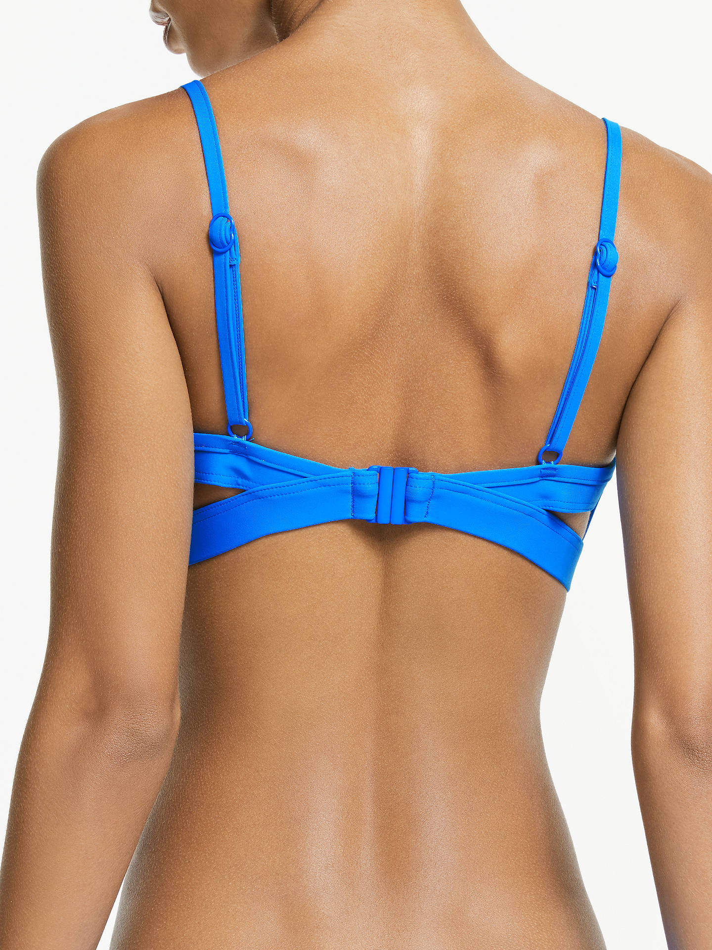 BuySeafolly Active Swim Hybrid Bralette Bikini Top, Electric Blue, 8 Online at johnlewis.com
