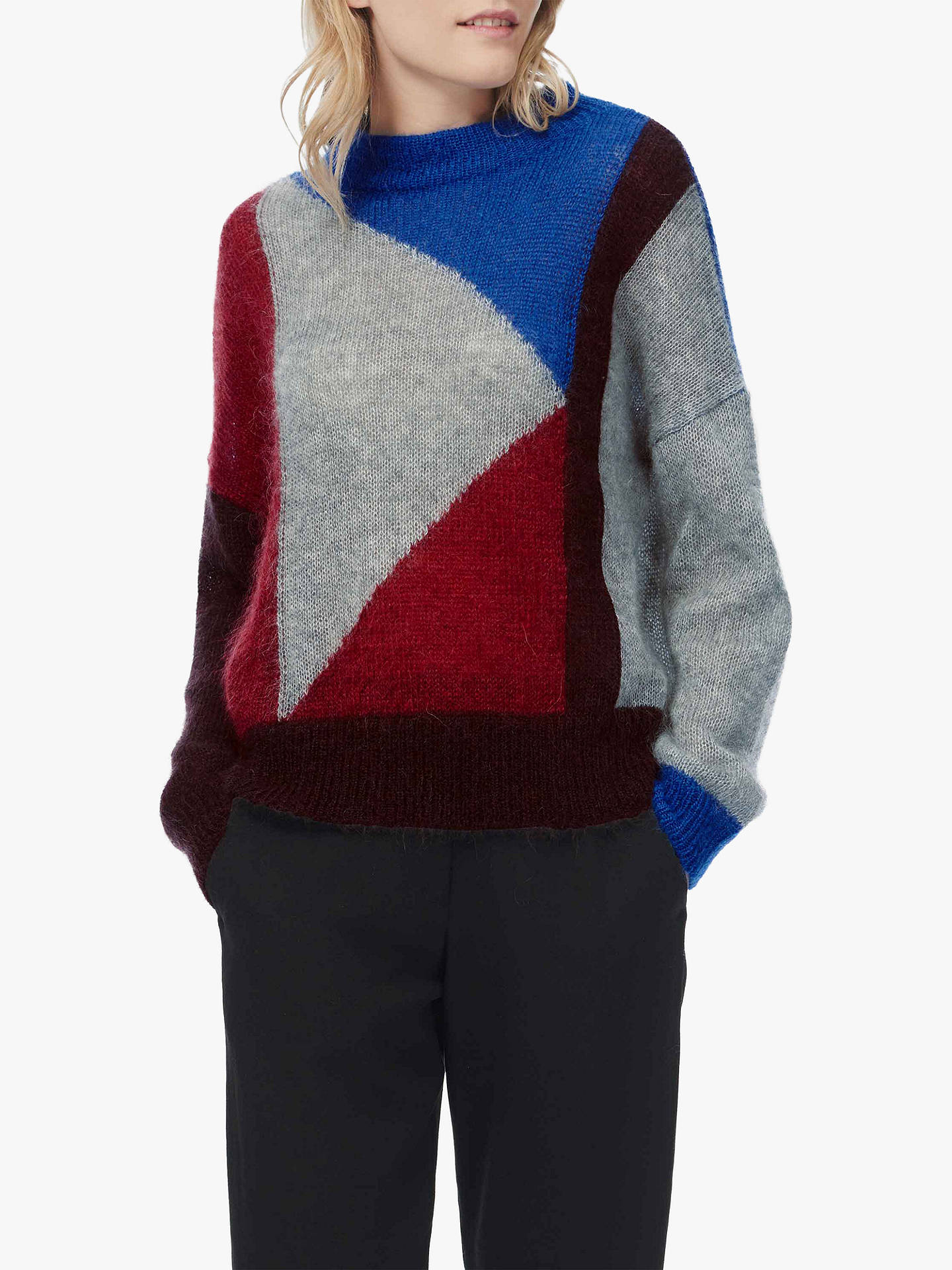 Buy Brora Colour Block Knit Jumper, Red/Cobalt/Silver, 8-10 Online at johnlewis.com