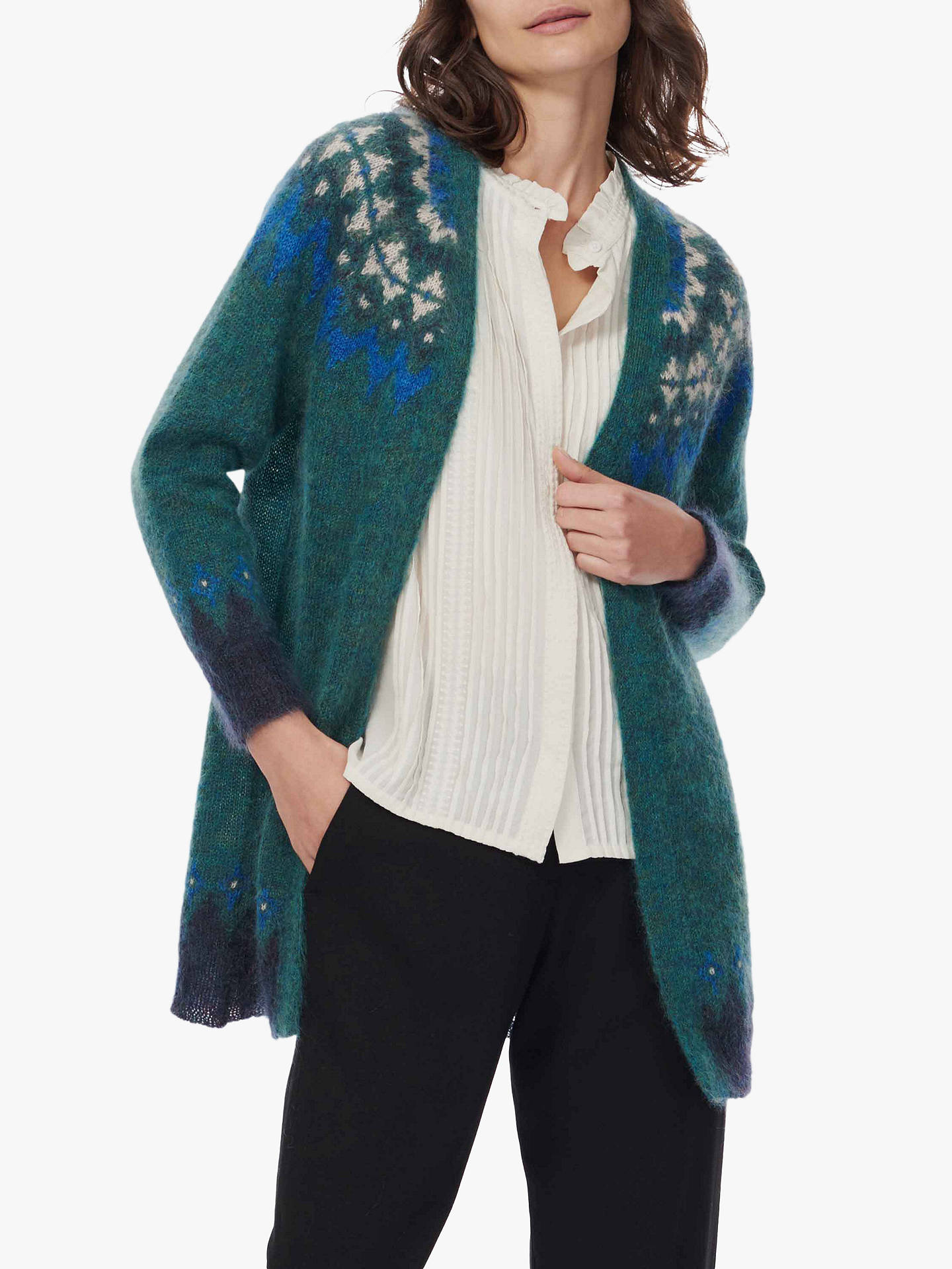 Buy Brora Mohair Icelandic Cardigan, Emerald, 8-10 Online at johnlewis.com