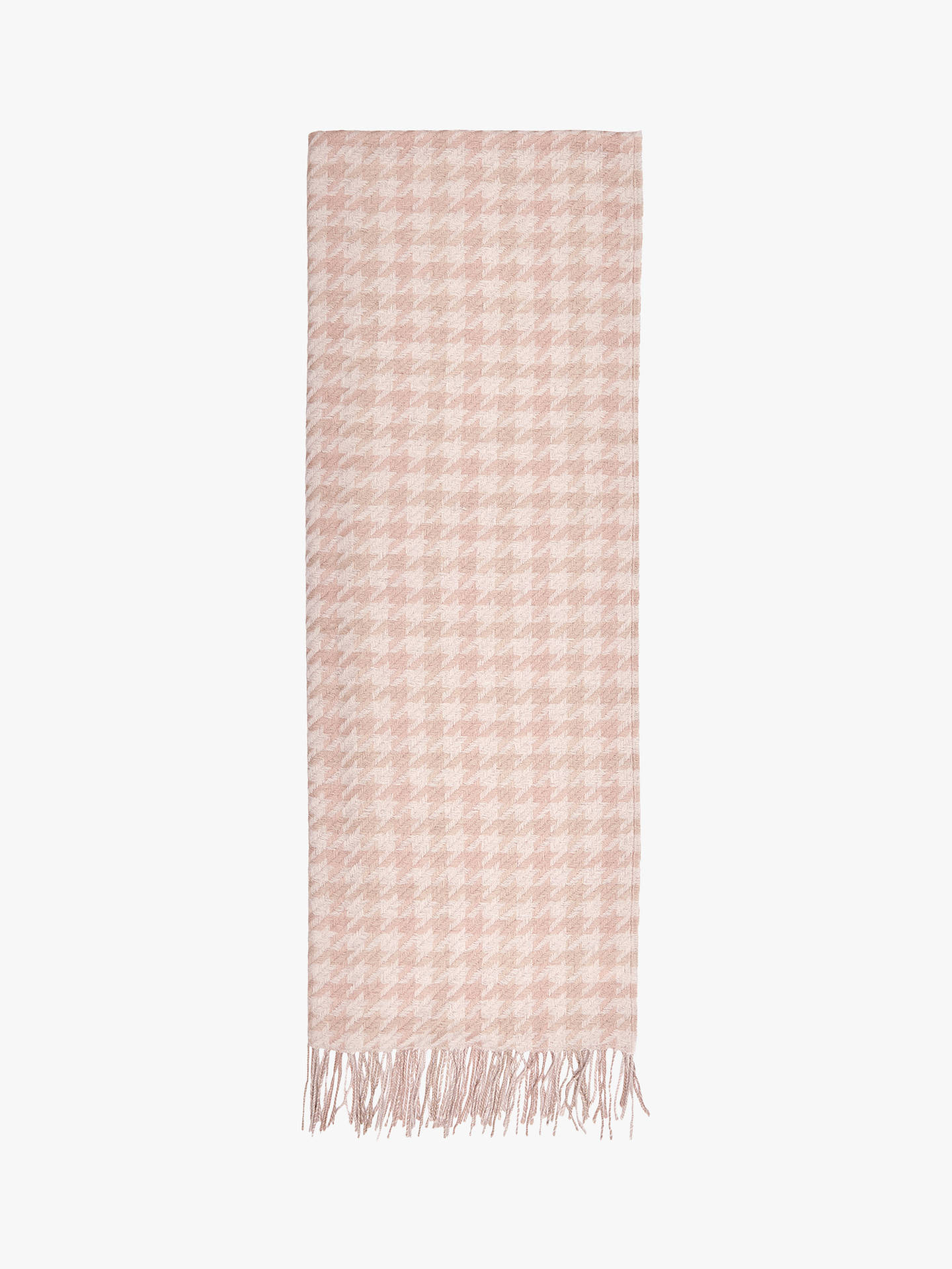 BuyReiss Rena Dogtooth Scarf, Blush/White Online at johnlewis.com