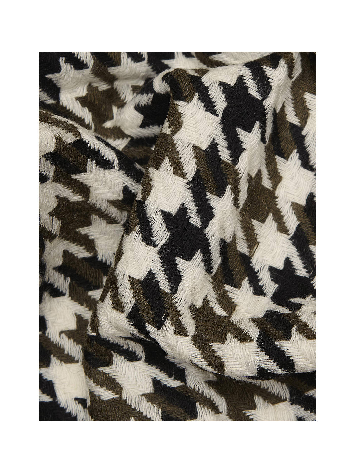 BuyReiss Rena Dogtooth Wool Scarf, Black/White, One Size Online at johnlewis.com