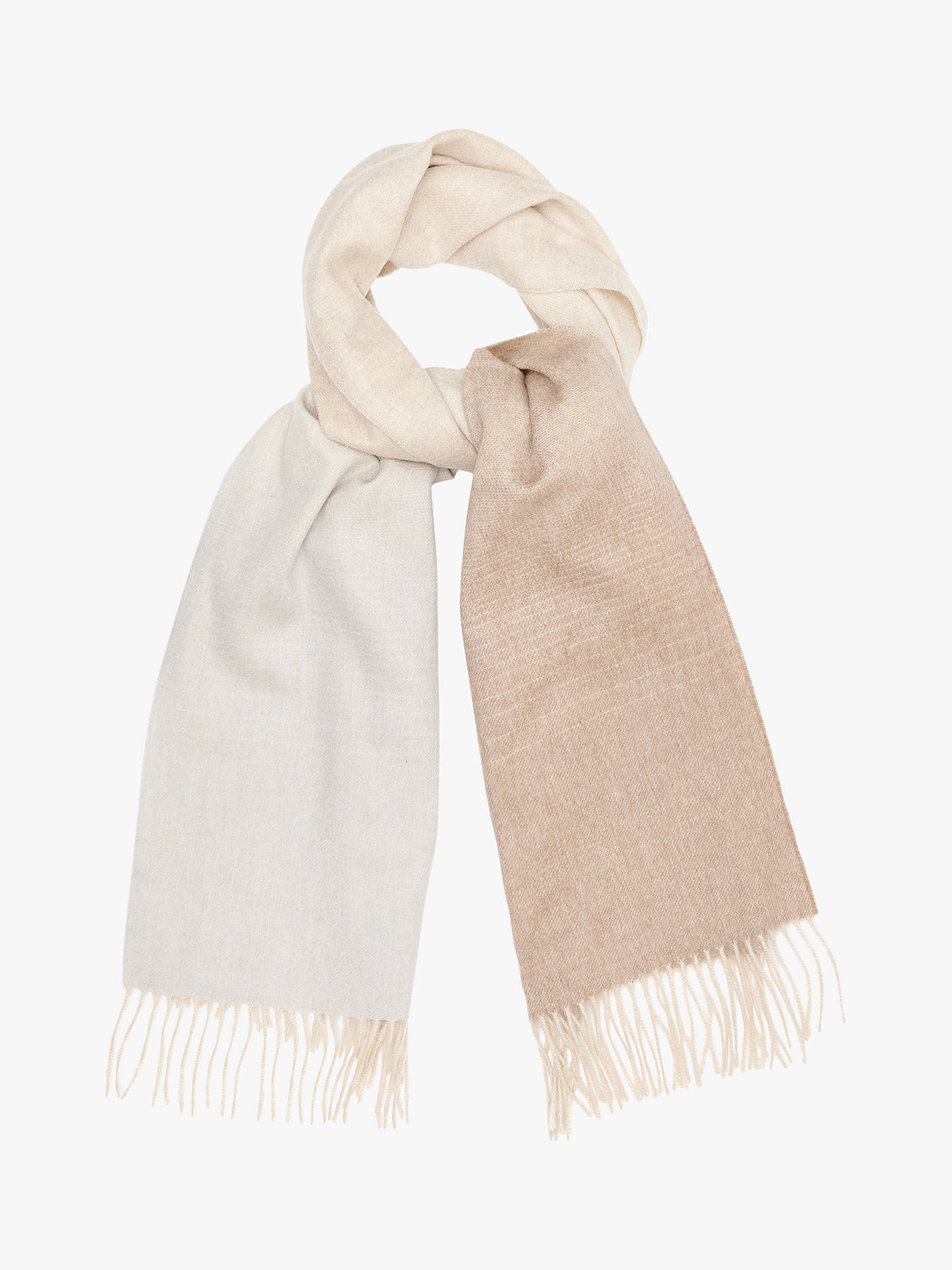 BuyReiss Sass Ombre Scarf, Blush Online at johnlewis.com
