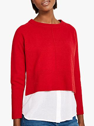Mint Velvet Dual Layer Knit Jumper, Red