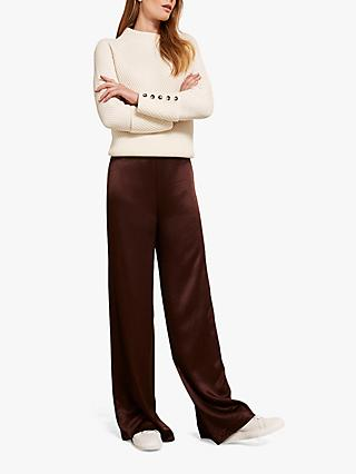 fd6c58a17609 Mint Velvet Satin Wide Leg Trousers