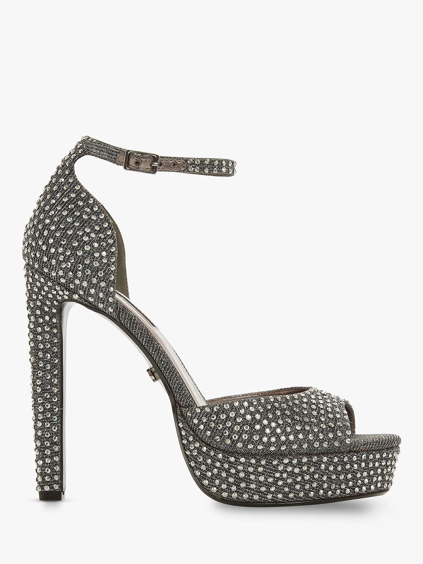 d682b53aaf Buy Dune Manhatan Embellished Block Heel Platform Sandals, Pewter, 7 Online  at johnlewis.