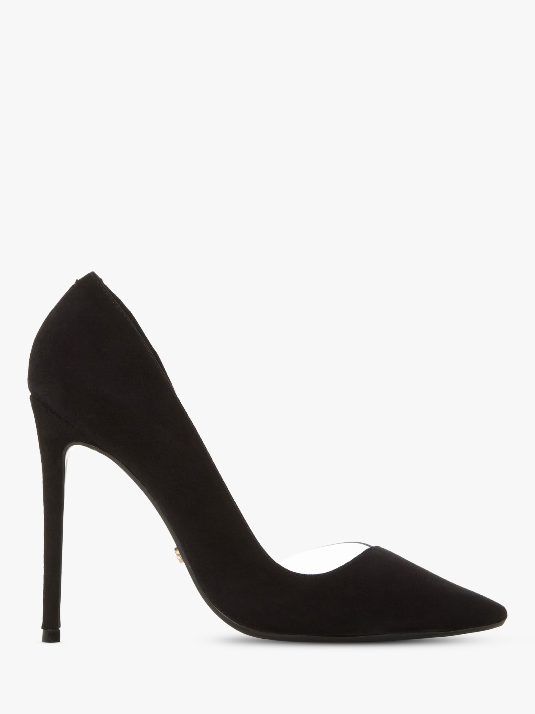 408fe41d21 Dune Christyna Stiletto Heel Court Shoes | Black Suede at John Lewis &  Partners
