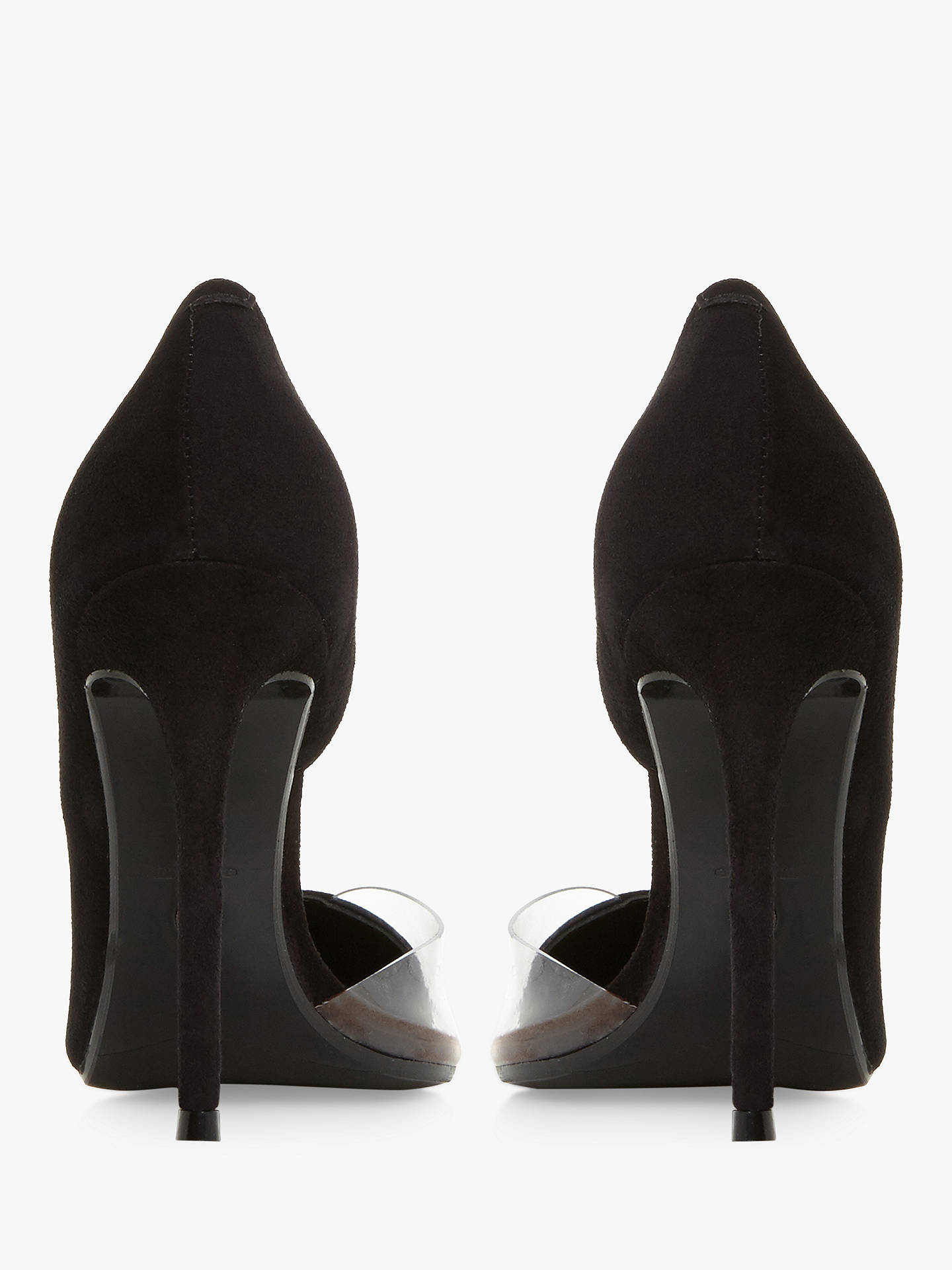 d65d59f5d8 Buy Dune Christyna Stiletto Heel Court Shoes, Black Suede, 3 Online at  johnlewis.