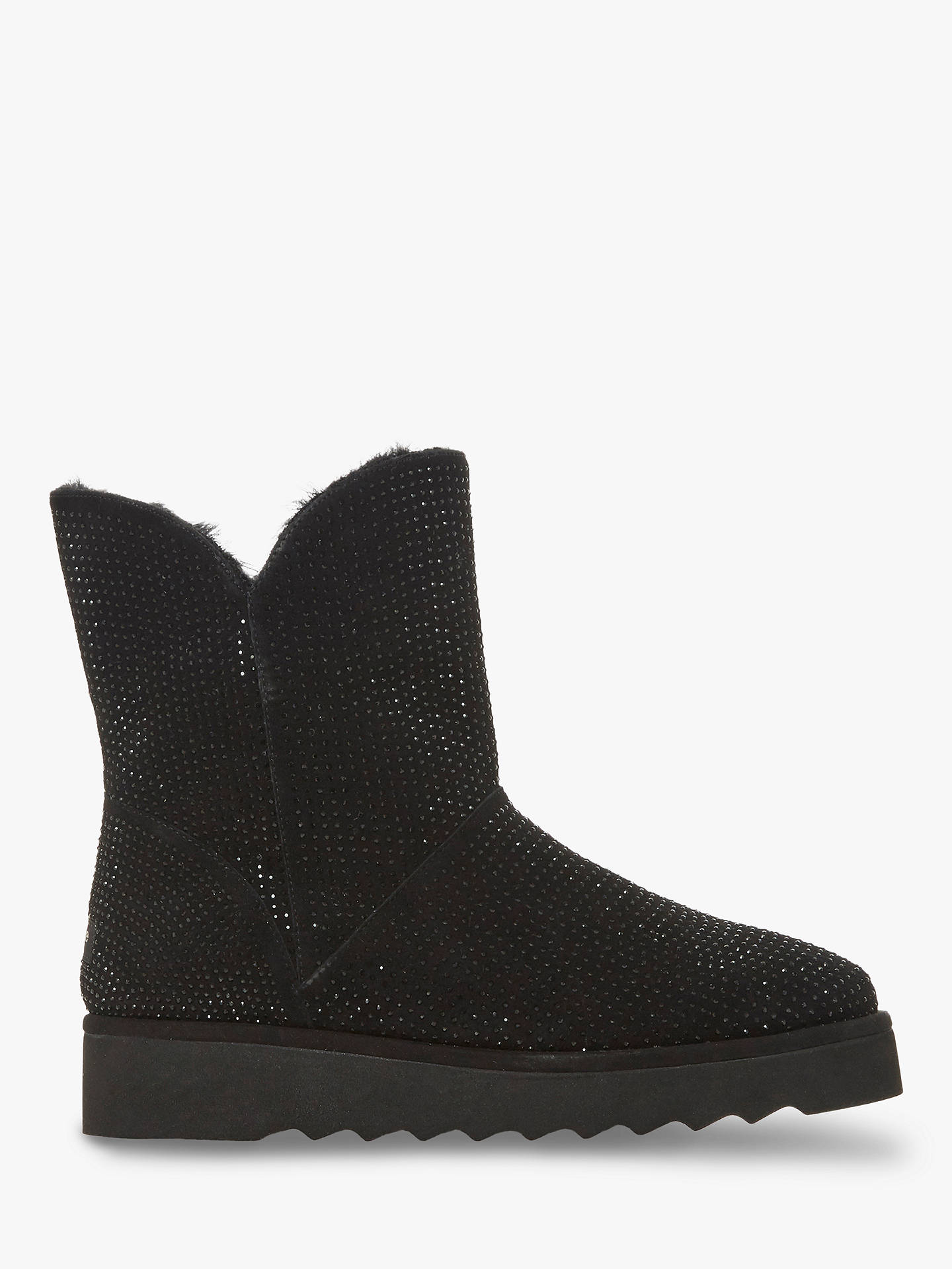 BuyDune Pina Suede Boots, Black, 3 Online at johnlewis.com