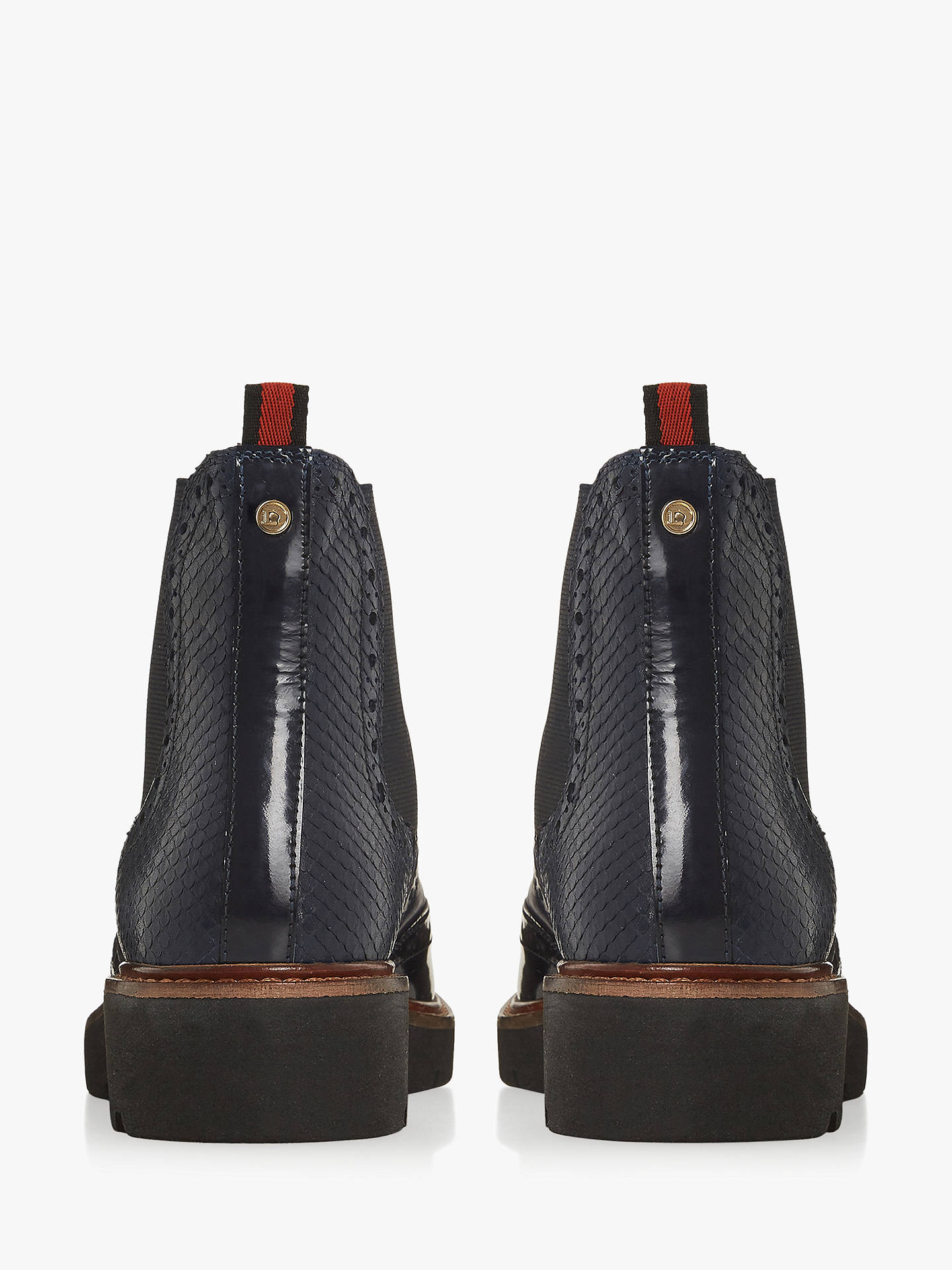 BuyDune Palomo Leather Chelsea Boots, Navy, 6 Online at johnlewis.com