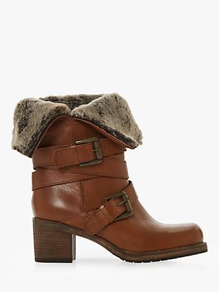 7e2e17db10b Dune Roko Block Heel Ankle Boots