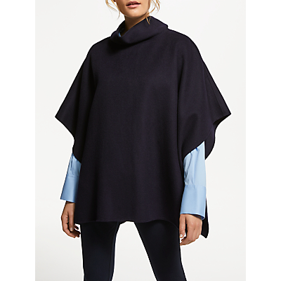 Winser London Double Faced Poncho, Dark Navy