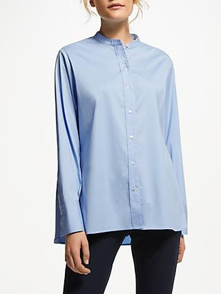Winser London Poplin Shirt, Blue