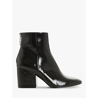 Image of Steve Madden Break O-Ring Patent Block Heel Ankle Boots, Black