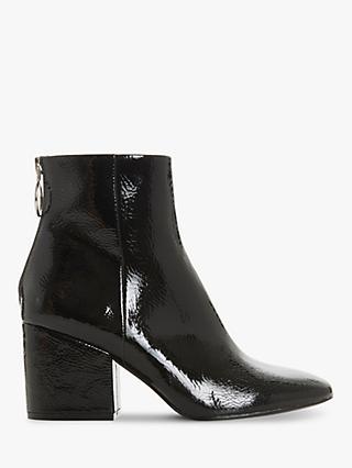 6cb0bb9e5f3 Steve Madden Break O-Ring Patent Block Heel Ankle Boots