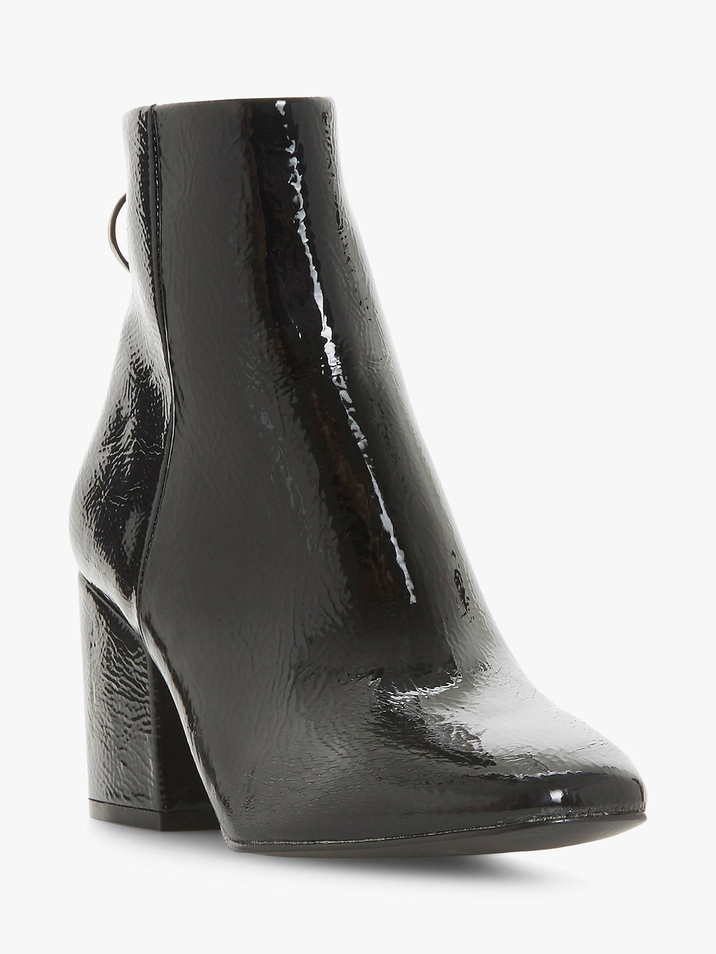 5a1509f6cc2 ... Buy Steve Madden Break O-Ring Patent Block Heel Ankle Boots, Black, 3  ...