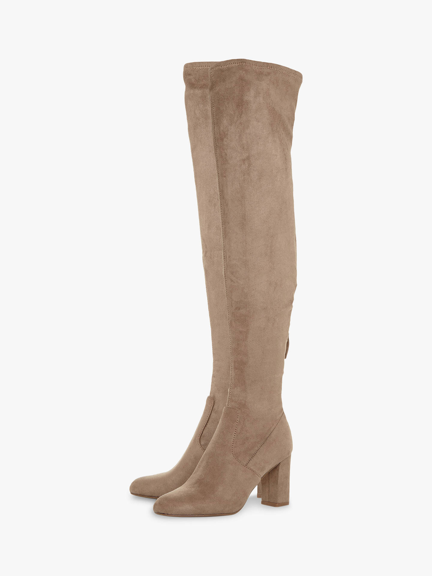 BuySteve Madden Anton High Block Heel Over The Knee Boots, Grey, 5 Online at johnlewis.com
