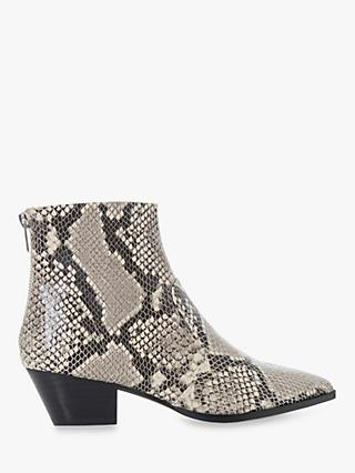Steve Madden Cafe SM Ankle Boots, Reptile Leather