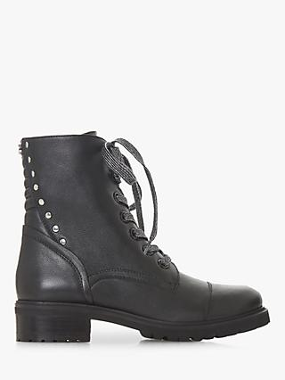 1a9e9461c240d Steve Madden Irofi Lace Up Ankle Boots, Black Leather