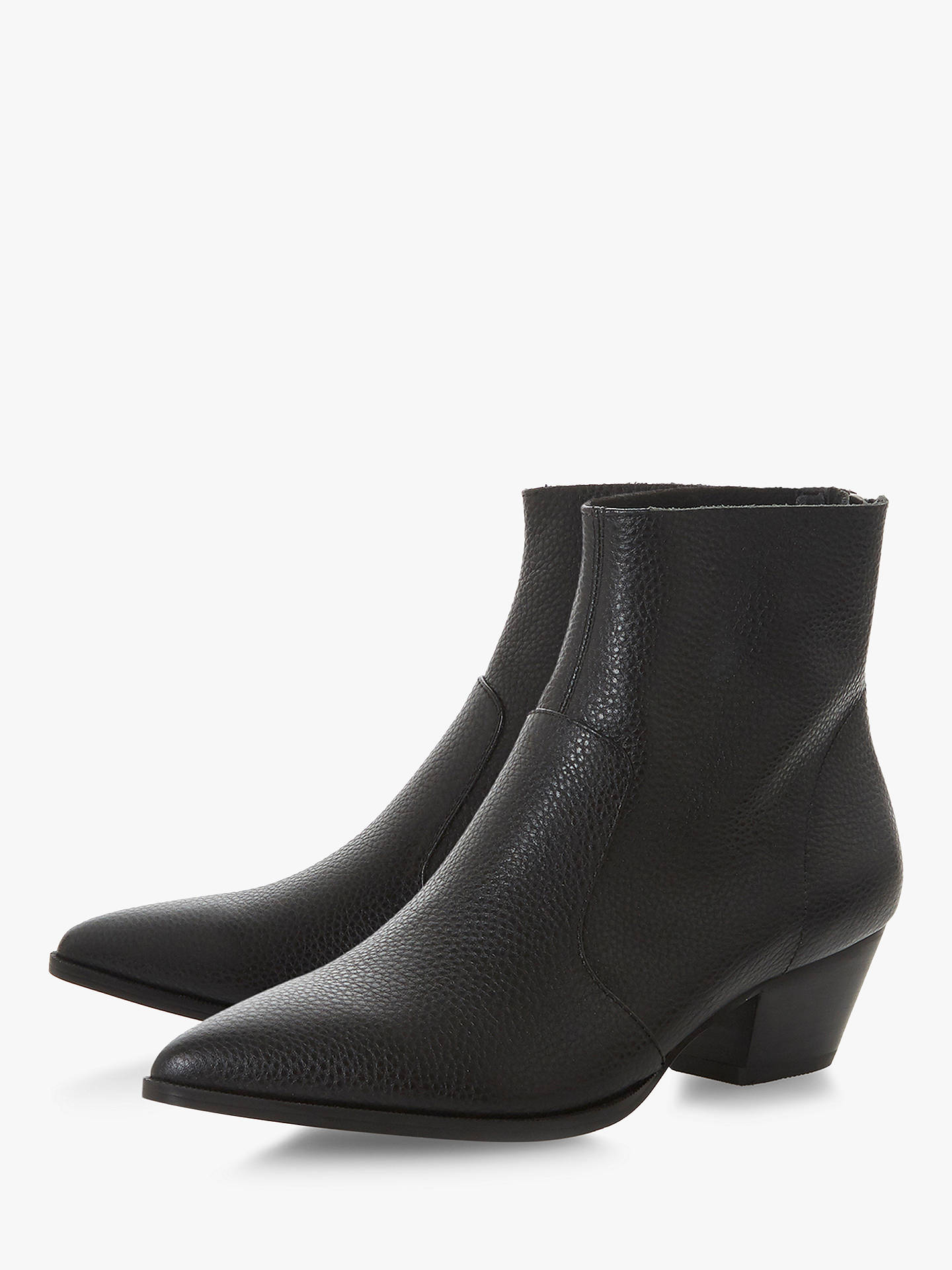 Buy Steve Madden Cafe SM Ankle Boots, Black Leather, 3 Online at johnlewis.com