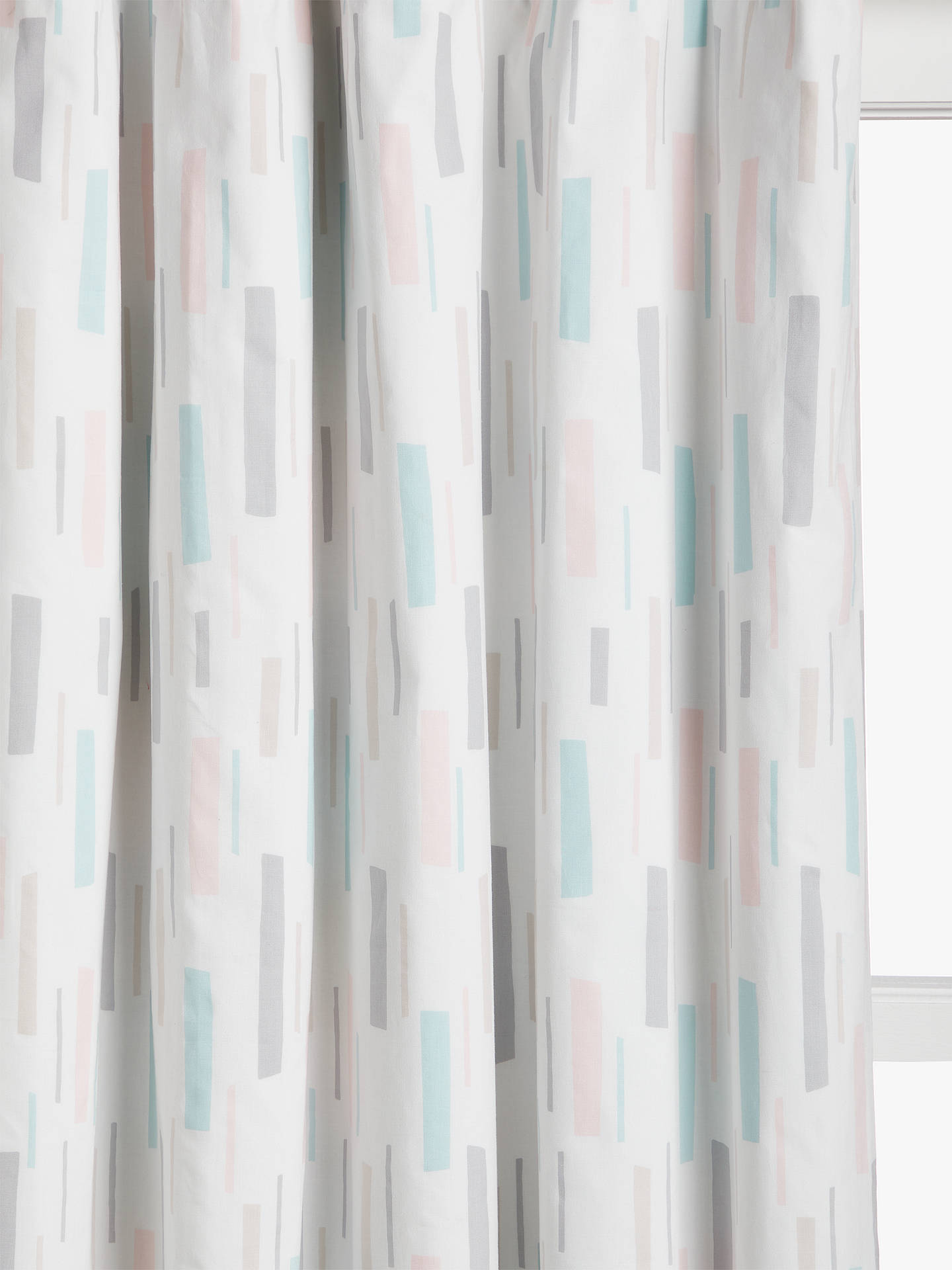 Buy little home at John Lewis Fragments Pencil Pleat Blackout Lined Children's Curtains, Ash Rose, W117 x Drop 137cm Online at johnlewis.com