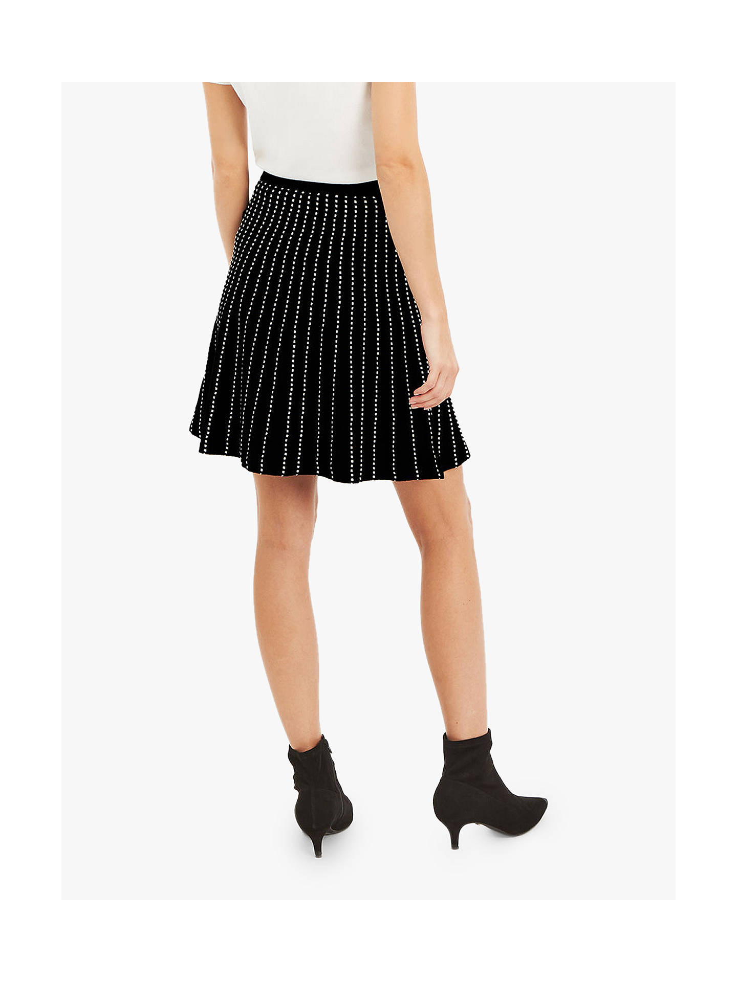a92f263cf52a ... Buy Oasis Julia Line And Dot Knitted Skirt, Black/White, S Online at ...