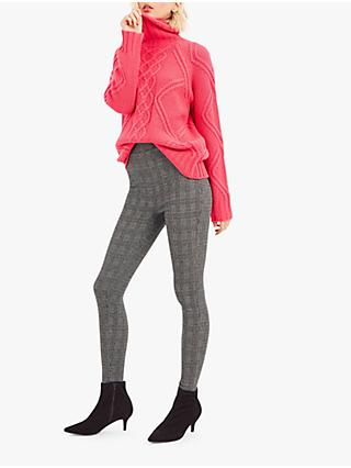 Oasis Check Skinny Leggings, Multi Black