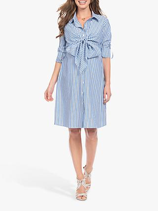 Séraphine Ariadne Stripe Shirt Maternity Nursing Dress, Blue/White